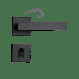 Fechadura-Retro-em-Zamac-Preto-Texturizado-Externa