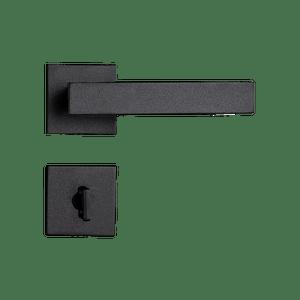 Fechadura-Retro-em-Zamac-Preto-Texturizado-para-Banheiro-